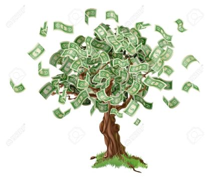 20921305-business-or-savings-concept-of-a-money-tree-with-growing-dollar-bills-or-other-money-